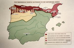 La península hasta Alfonso III (866)