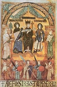 Libro de los Testamentos (c 1118). Representación de Alfonso III de Asturias