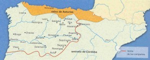 Conquistas de Alfonso I según la crónica de Alfonso III