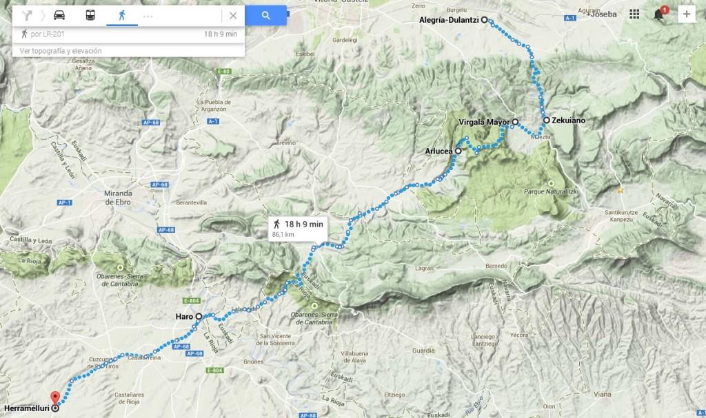 Ruta meridional del euskera, ss VII-XI