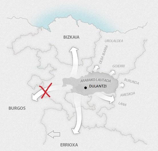 Expansión de euskera meridional (Zuazo 2014)