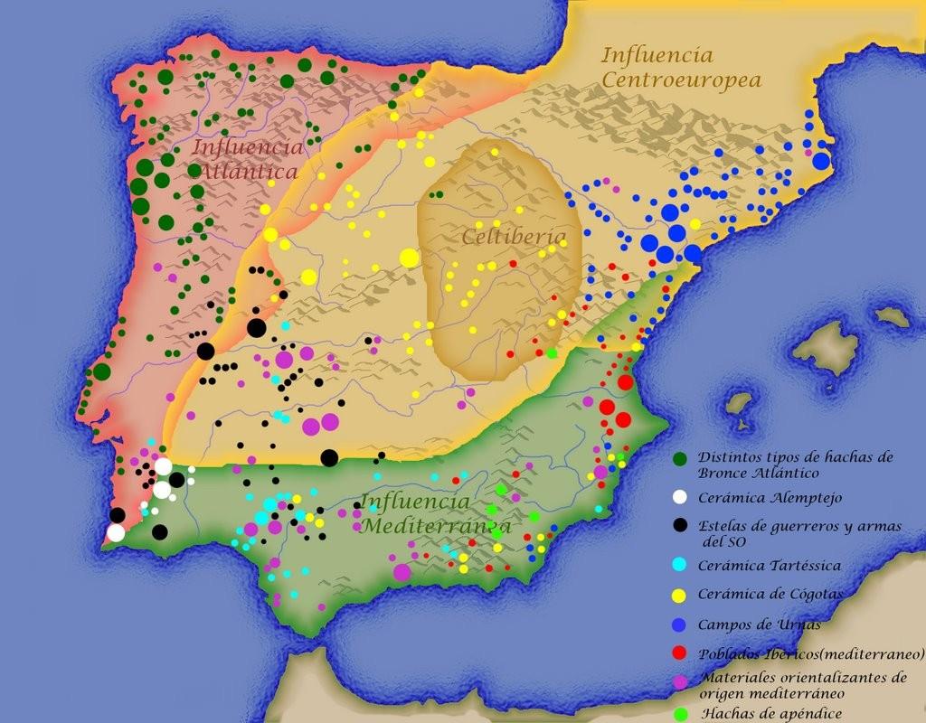 Ilustración de Taliesin basada en ALMAGRO-GORBEA, Martín, RUIZ ZAPATERO, Gonzalo (1992). Paleoetnología de la Península Ibérica. Reflexiones y perspectivas de futuro