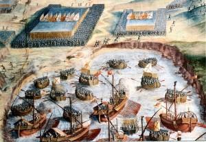 Intervención decisiva de Miguel de Oquendo en la batalla de la Isla Terceira (1582)