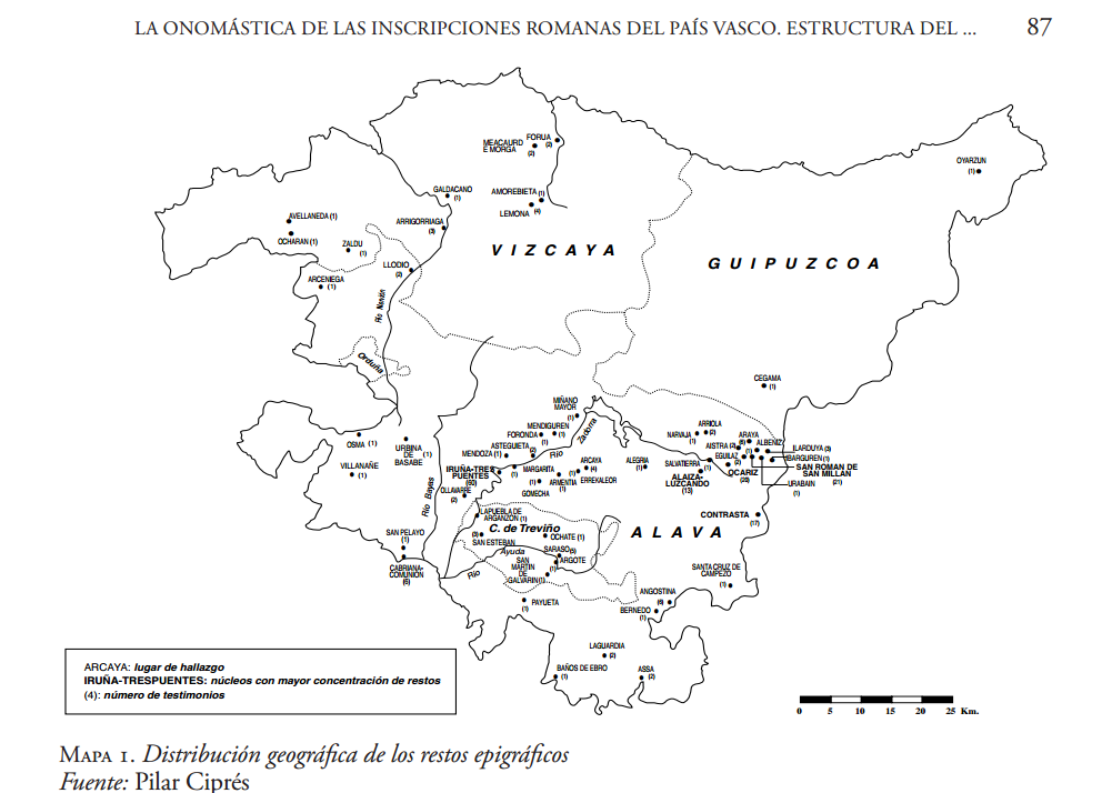 Epigrafía romana en el País Vasco (Ciprés 2006)