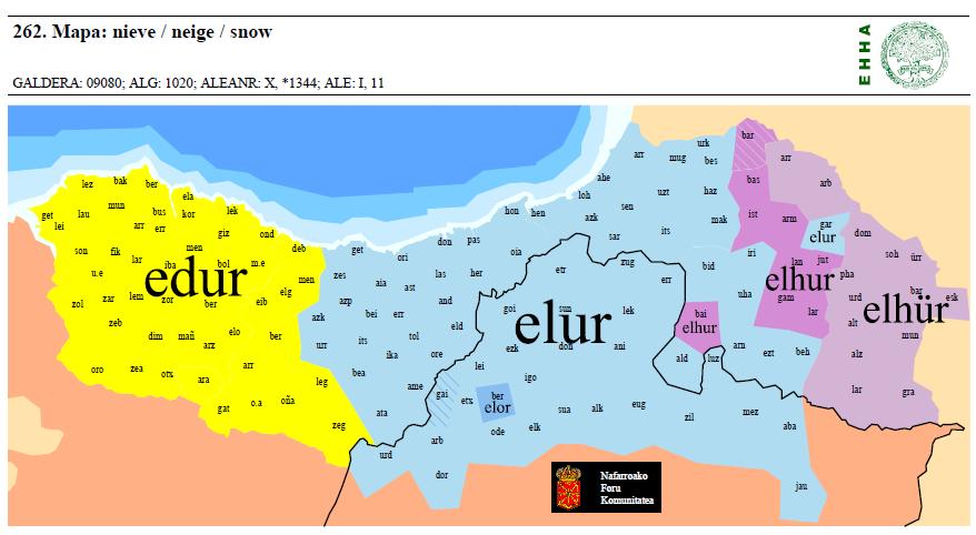 elhur 'nieve'
