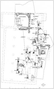 Basílica, baptisterio e inhumaciones del conjunto tardoantiguo de Alegría-Dulantzi (plano de Miguel Loza y Javier Niso)