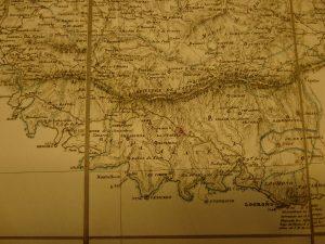 Mapa de Sierra de Cantabria de 1848, por Francisco Coello y Pascual Madoz