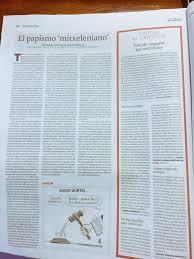 El papismo mitxeleniano (El Correo 18.10.2016)